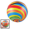 "Kids 8.5"" Dia Multicolor Stripes Inflatable PVC Soccer Football Toy"