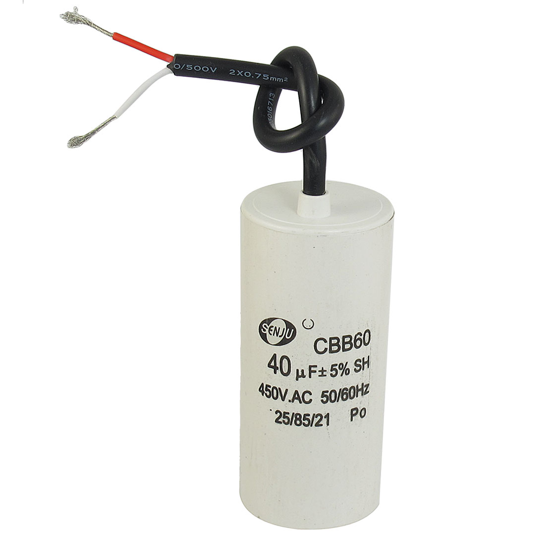 CBB60 AC 450V 40uF Cylindrical Non Polar Motor Capacitor