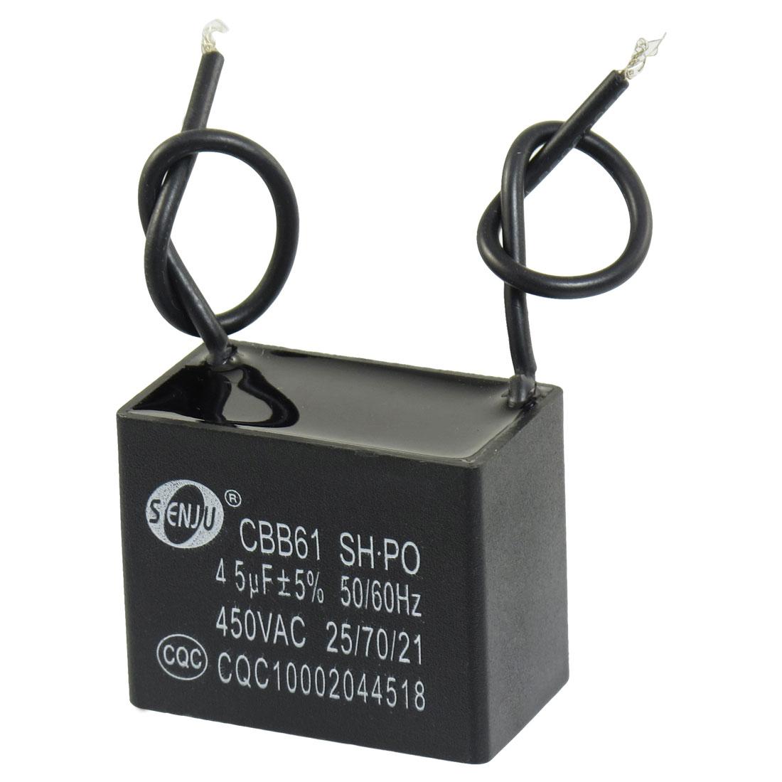 Polypropylene Film AC Motor Run Capacitor 4.5uF 5% 450V CBB61