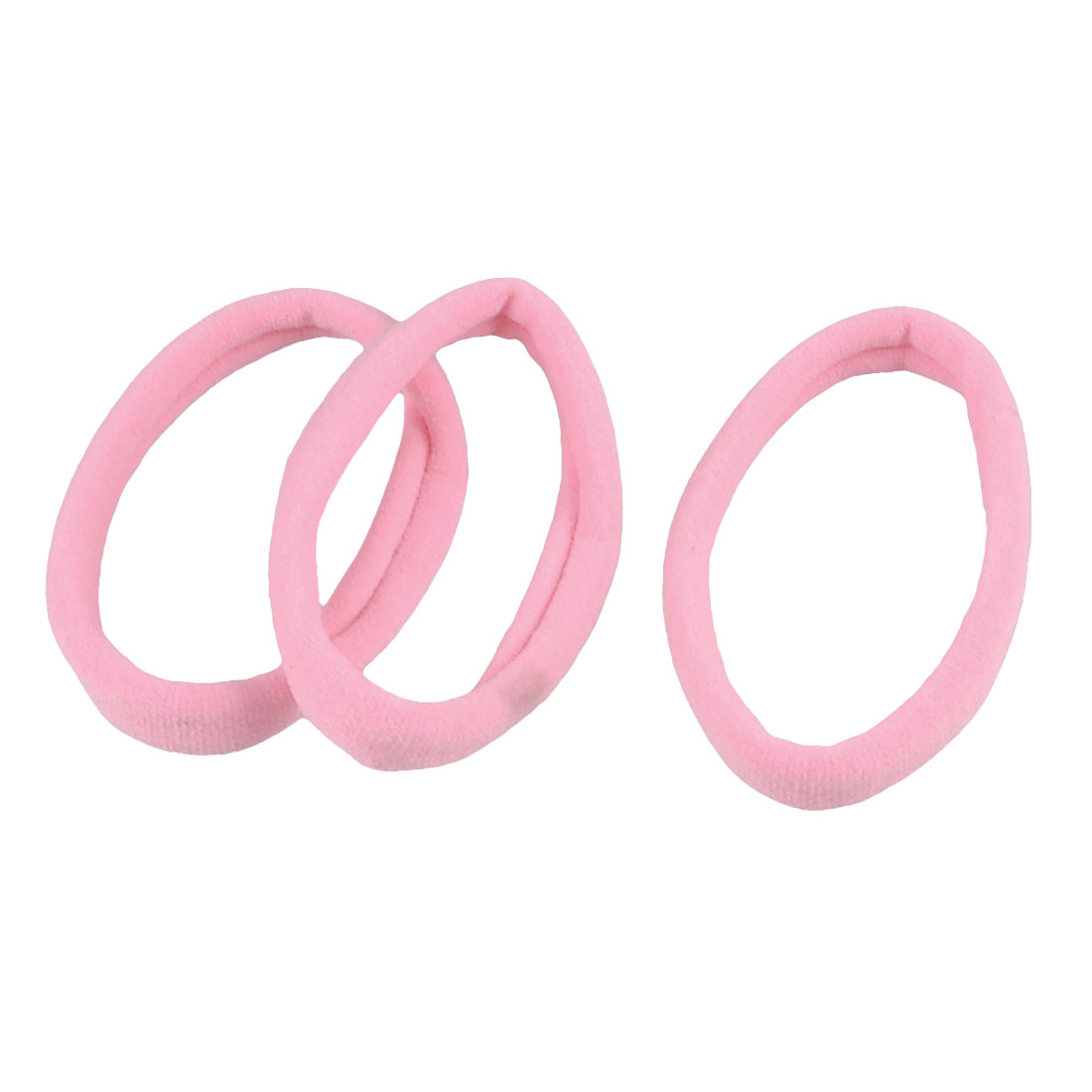 3 Pcs Stretch Hairband Hair Ties Wrap Ponytail Holder Pink for Women