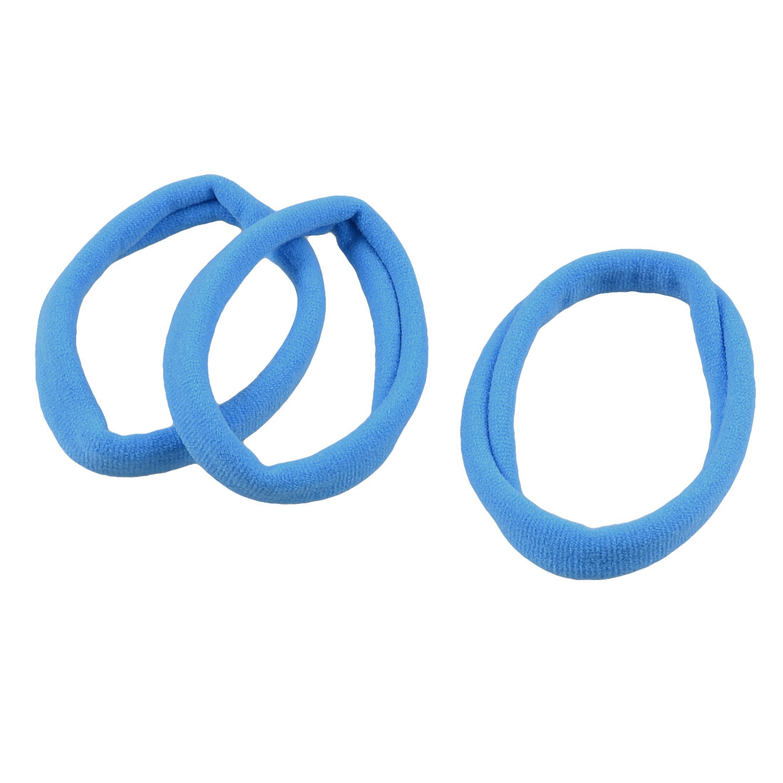 3 Pcs Blue Seamless Elastic Ring Hair Band Ties Ponytail Holder