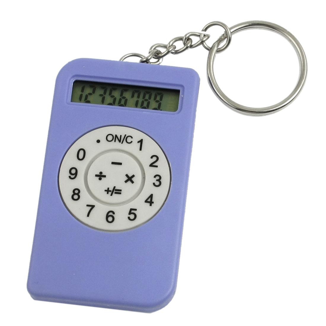 Purple 8 Digits Mp3 Shape Design LCD Display Electronic Calculator w Keying
