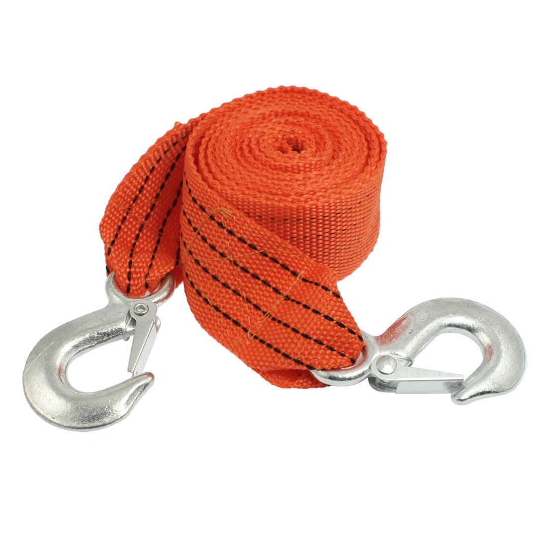 Truck Car Orange Nylon Flat Belt 3 Ton Towing Strap 9.84ft w Hook