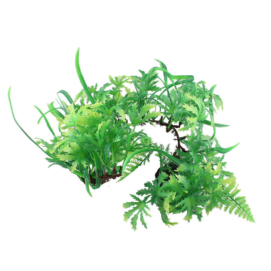"5"" Height Green Plastic Underwater Grass Plants for Aquarium Fish Tank"