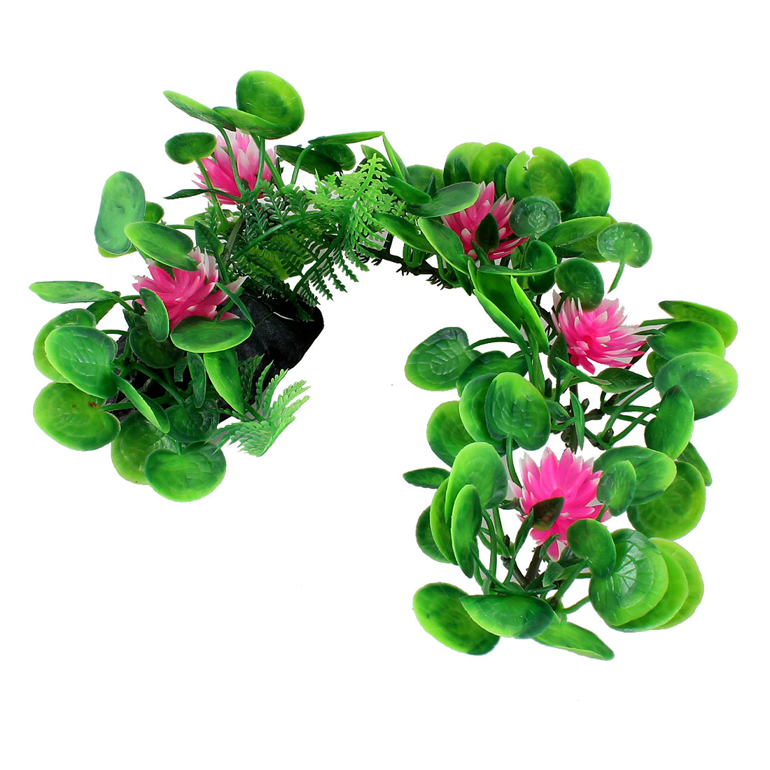 "5"" Pink Flower Plastic Underwater Grass Plants for Aquarium Fish Tank"