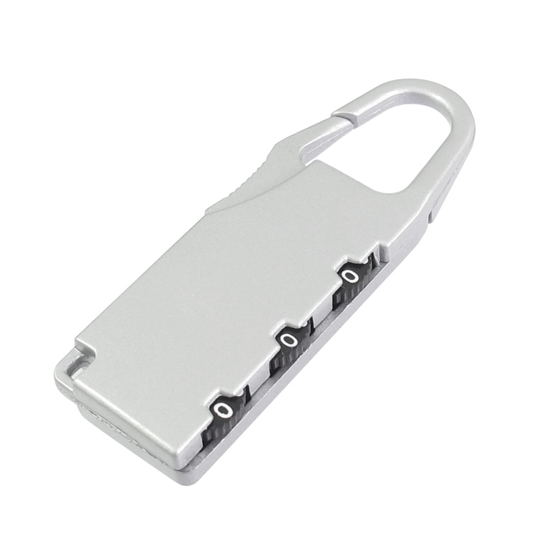 Silver Tone Metal 3 Digit Resettable Security Lock Coded Padlock