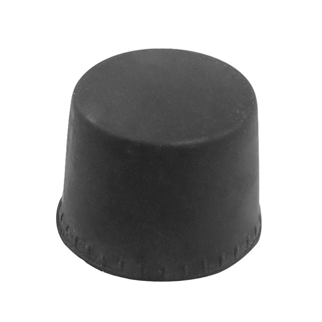 Black Bench Furniture Threaded 10mm Diameter Plastic Based Foot