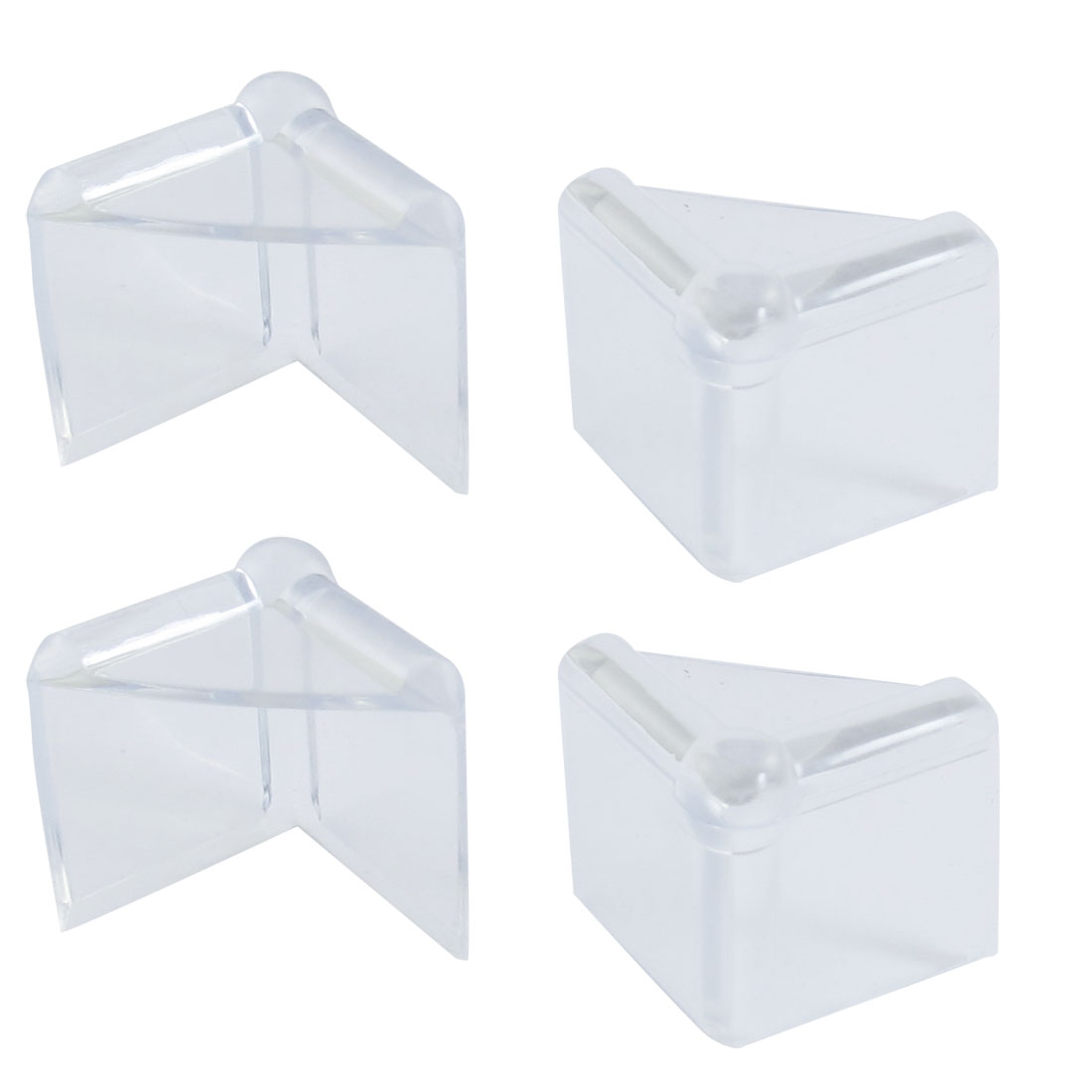 Children Safety Flexible Clear Plastic Corner Guard Cushion 4 Pcs