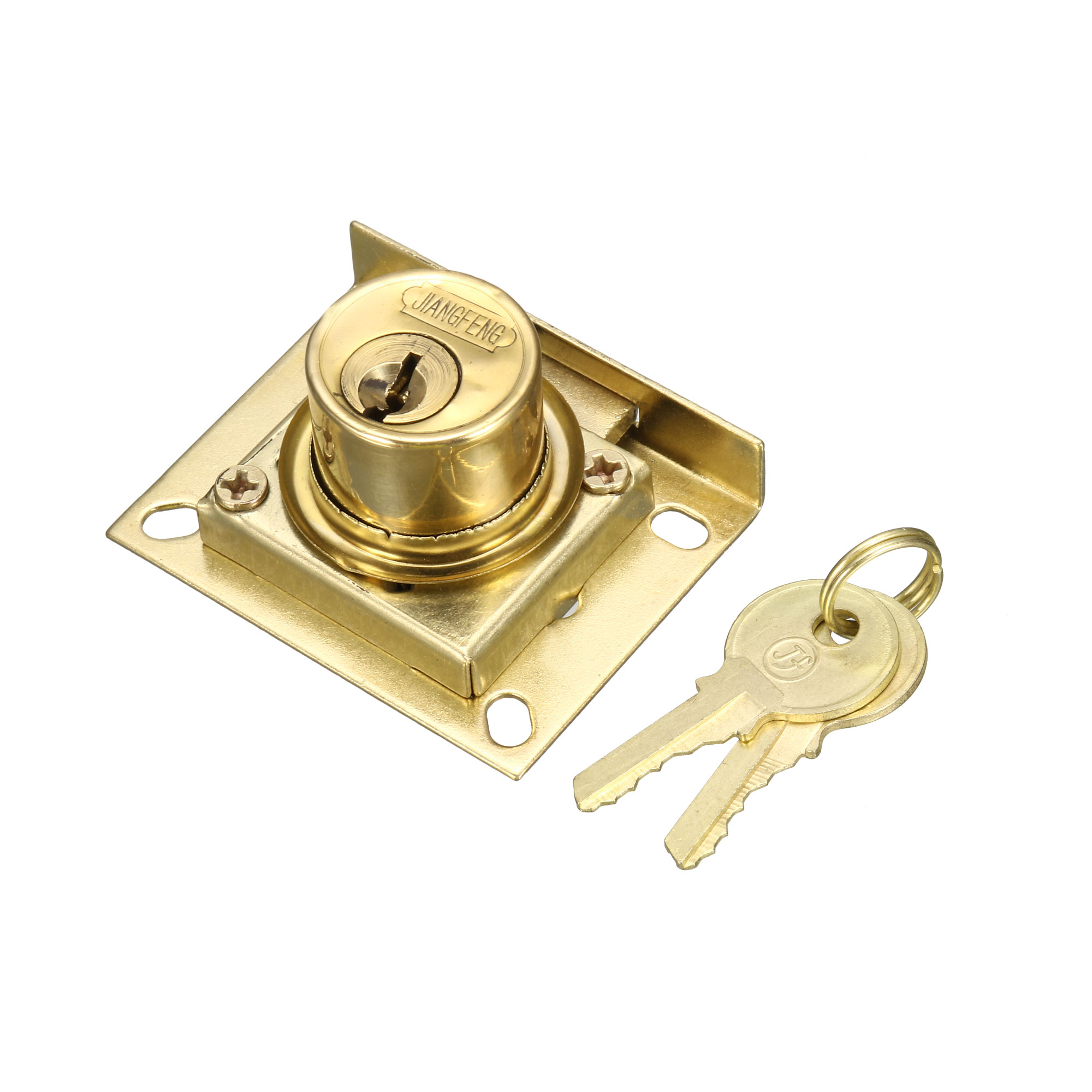 Home Office 22mm Diameter Cylinder Head Furniture Security Drawer Lock w 2 Keys