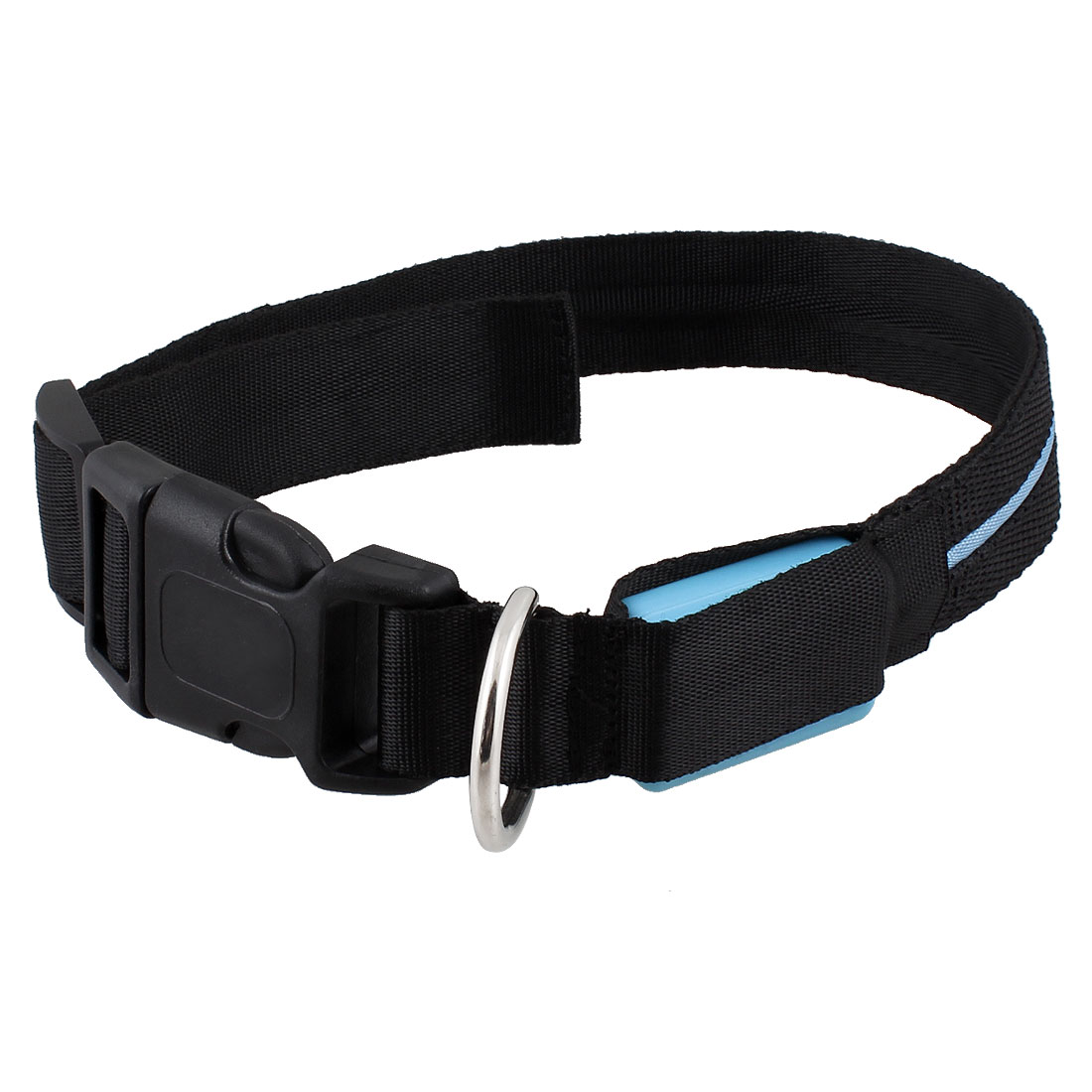 Blue LED Night Safety Flash Light Up Pet Cat Dog Collar Belt 22""