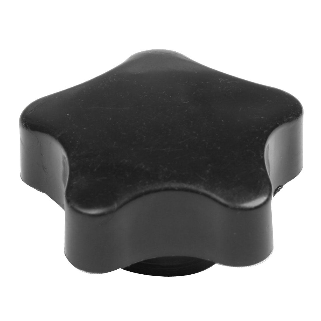 Black Gold Tone M8 40mm Diameter Star Head Clamping Knob Repair Part