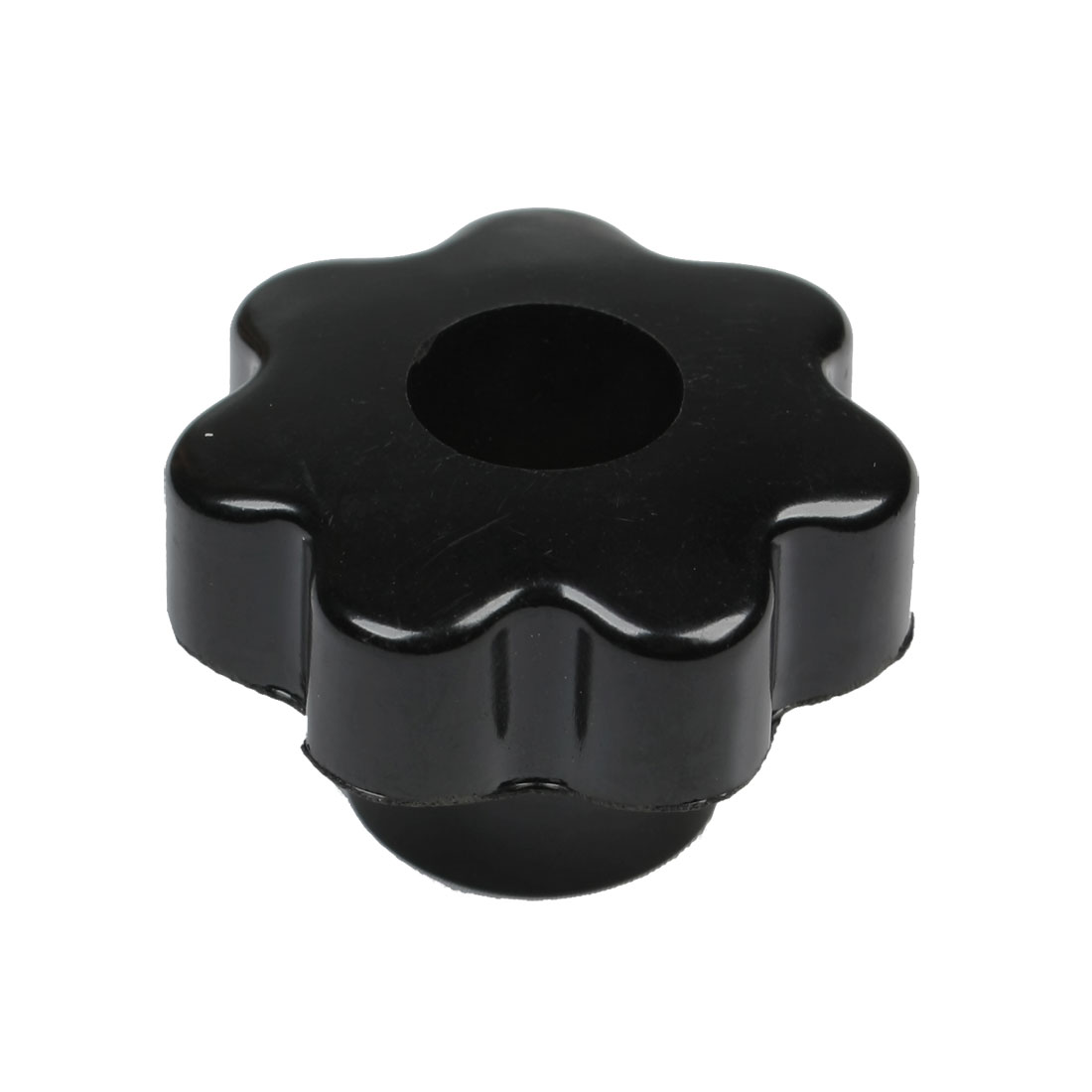 Black Gold Tone M10 50mm Diameter Through Hole Star Head Clamping Knob