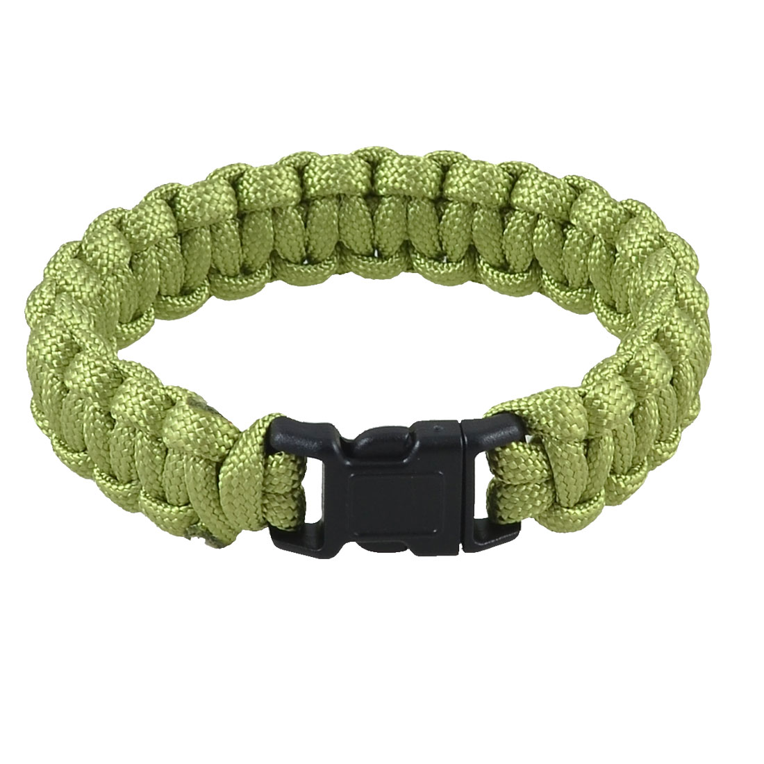 Plastic Quick Release Buckle Light Green Survival Bracelet 220Lbs