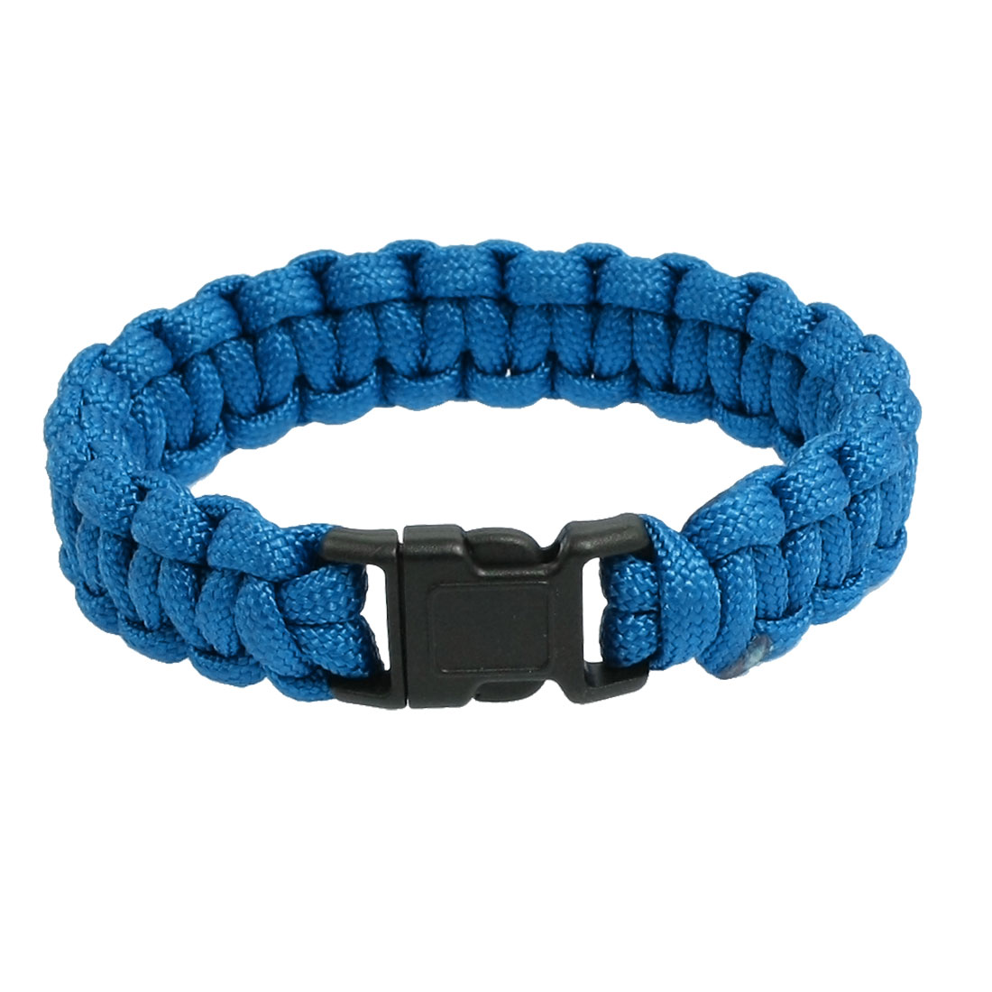 "9"" Girth Quick Release Buckle Blue Survival Bracelet 220Lbs"