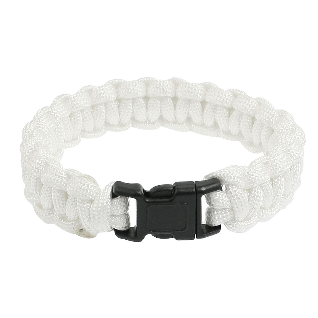 "9"" Girth Quick Release Buckle Survival Bracelet White 220Lbs"