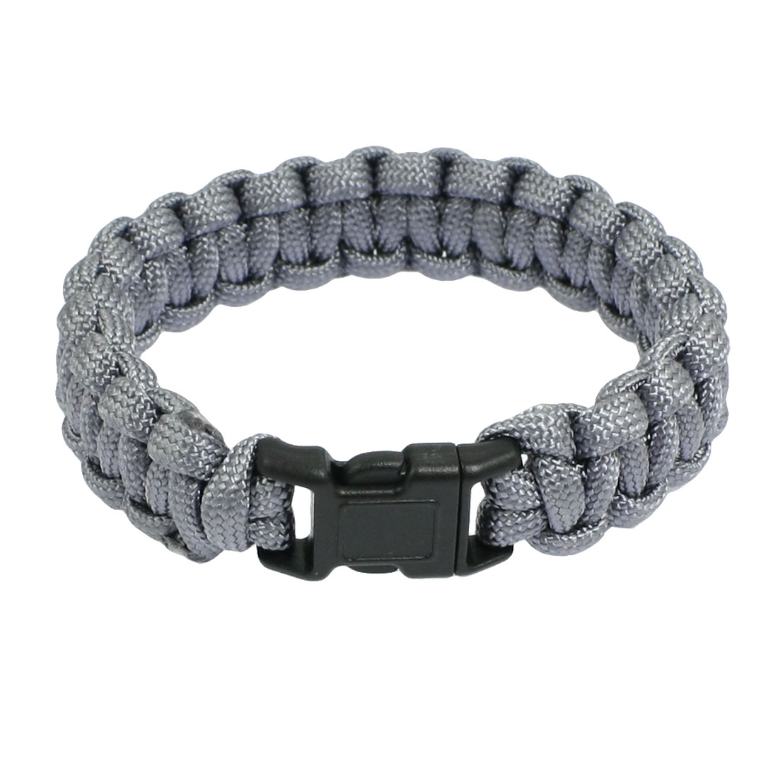 "9"" Girth Plastic Quick Release Buckle Gray Survival Bracelet 220Lbs"