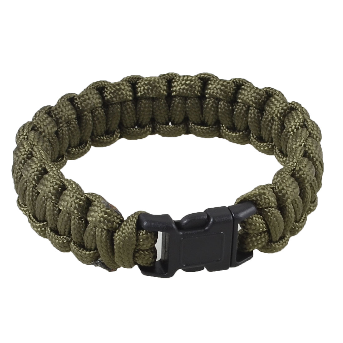Emergency Quick Release Buckle Parachute Cord Survival Bracelet Army Green 220Lbs