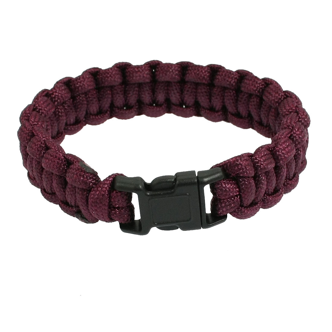 Whistle Buckle Dark Brown Nylon Rescue Survival Bracelet 220Lbs