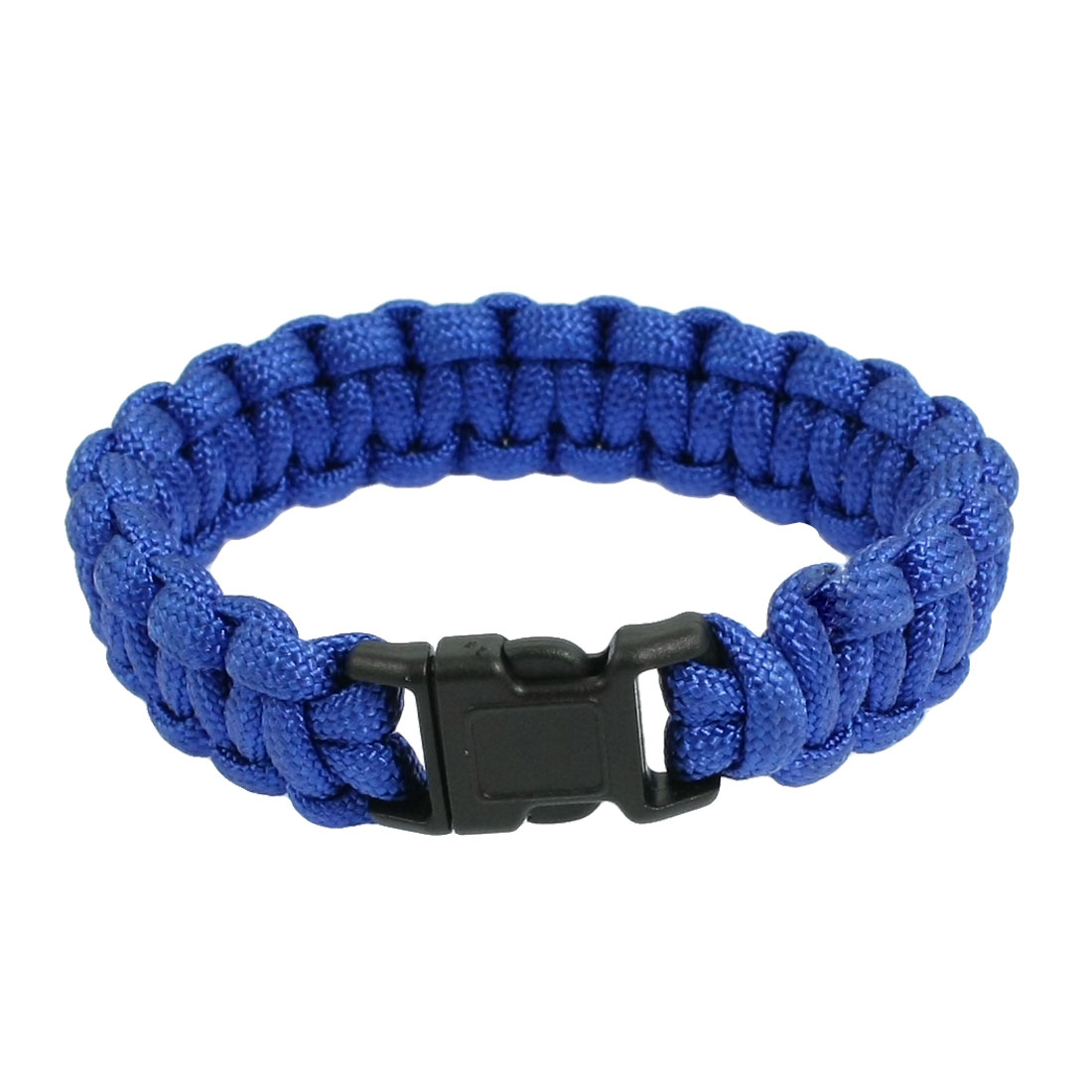 Camping Hiking Plastic Side Release Buckle Survival Bracelet Royal Blue