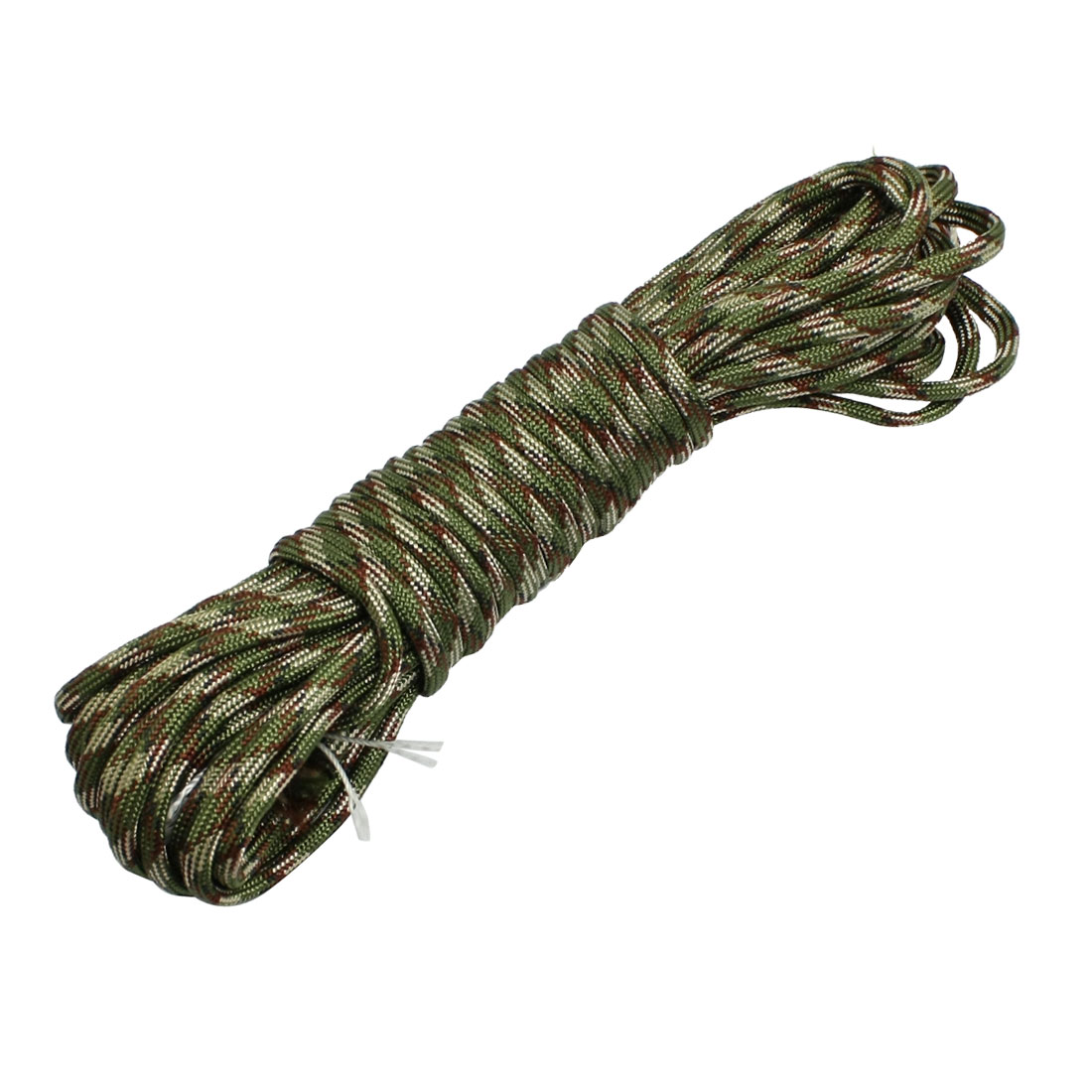 Strand Rattail Nylon Portable Safety Braided Parachute Rope Army Green 10 Meters