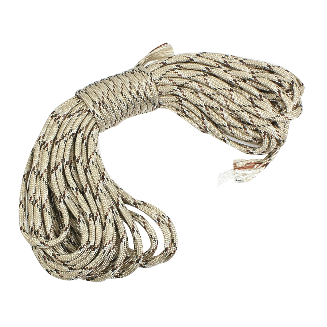 Outdoor Survival 4mm Diameter Nylon Braid Cord Khaki 32.8Ft