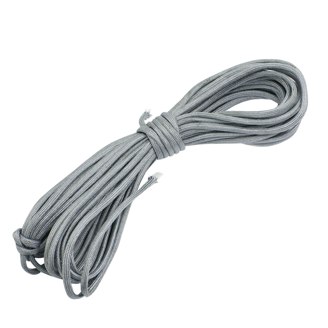 Airsoft War Game Gray 4mm Diameter Nylon Braided Cord Rope 10m