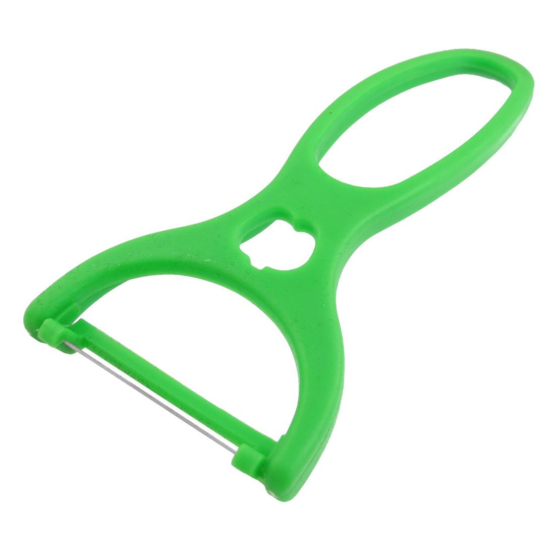 Green Plastic Handle Sharp Cutting Part Potato Cucumber Fruits Vegetables Peeler Cutter