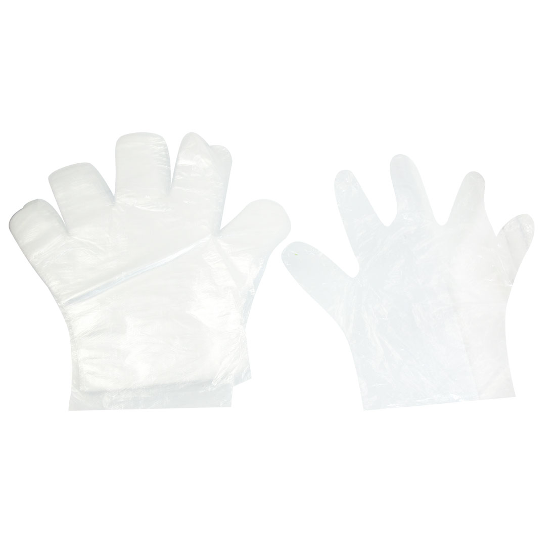 30 Pcs Food Service Hand Protective Plastic Disposable Gloves Clear