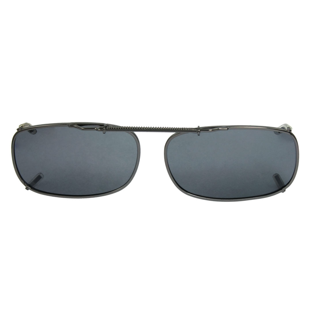 Unisex Outdoor Sports Rectangle Grey Lens Full Frame Clip on Polarized Sunglasses