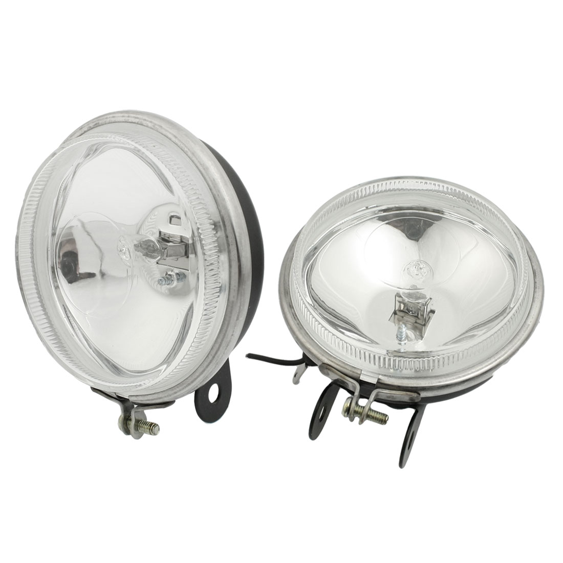 DC 12V 55W Warm White H3 Bulb Car Halogen Light Fog Head Lamp Pair internal