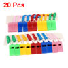 Colorful Nylon Strap Plastic Sports Game Referee Type Whistles 20 Pcs