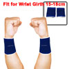 Pair Black Blue Stripe Pattern Elastic Wrist Support Protector Brace