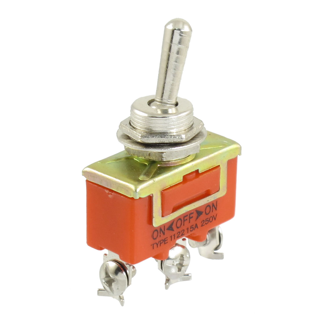 SPST ON/OFF/ON 3 Position 3 Screw Terminals Toggle Switch AC 250V 15A