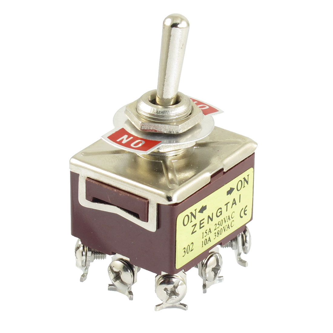 3PDT ON/ON 2 Position 9 Screw Terminals Toggle Switch 15A/250VAC 10A/380VAC