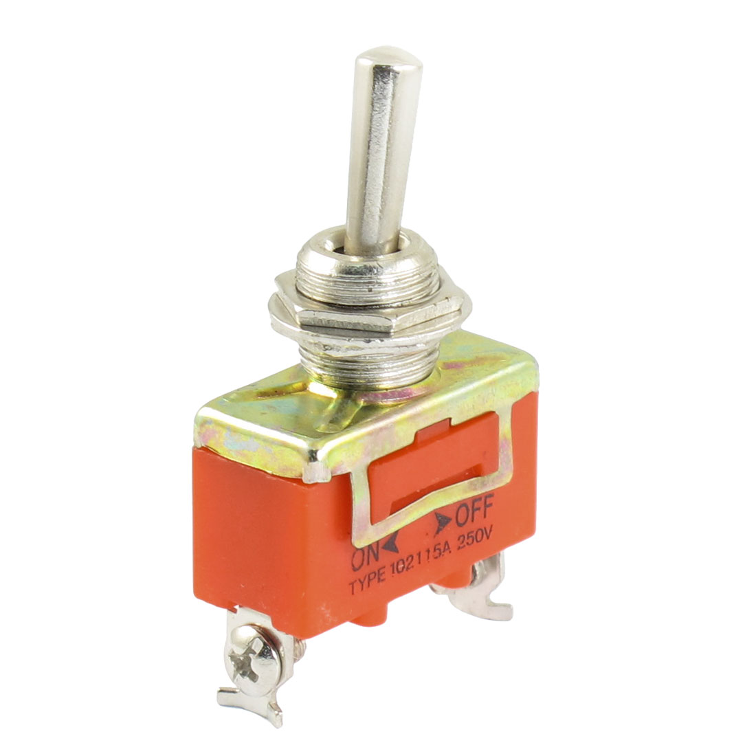 SPST ON/OFF 2 Position 2 Screw Terminals Toggle Switch AC 250V 15A