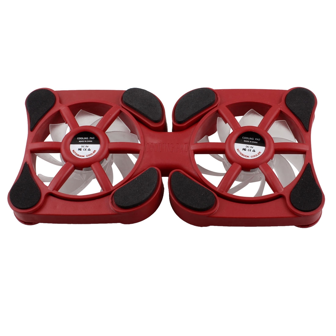 Laptop Notebook Red Plastic Shell Foldable USB Cooler Cooling Fan Pad DC 5V