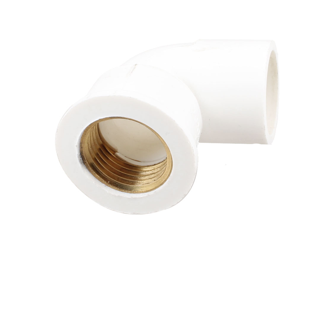 1/2 NPT Brass Female Thread PVC-U Pipe Elbow Connector Coupler White