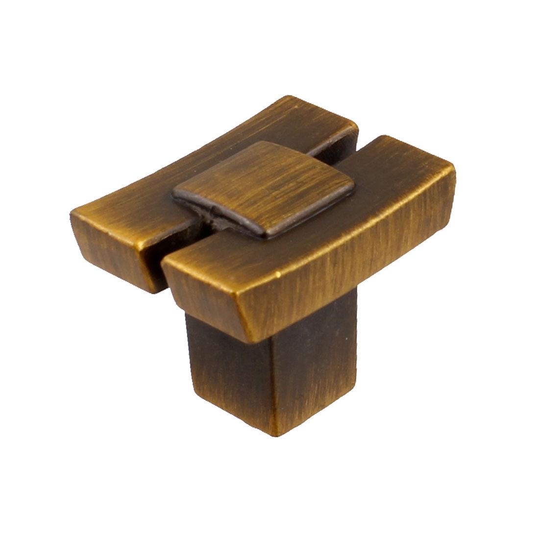 "3.7mm 5/32"" Dia.Screw Hole Retro Style Metal Cabinet Door Pull Handle Knob"