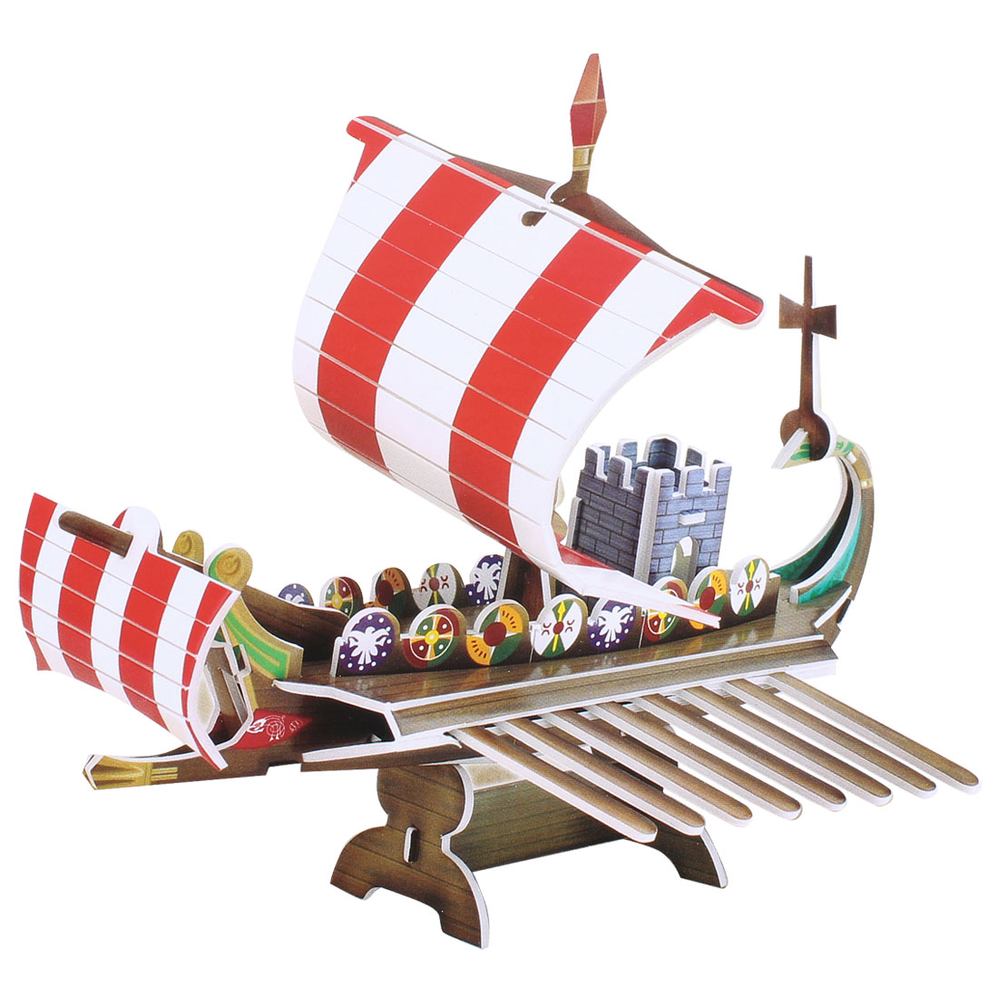 Paper Foam Board 22 Pcs 3D Pirate Sailboat Intelligence Puzzle Toy for Kids
