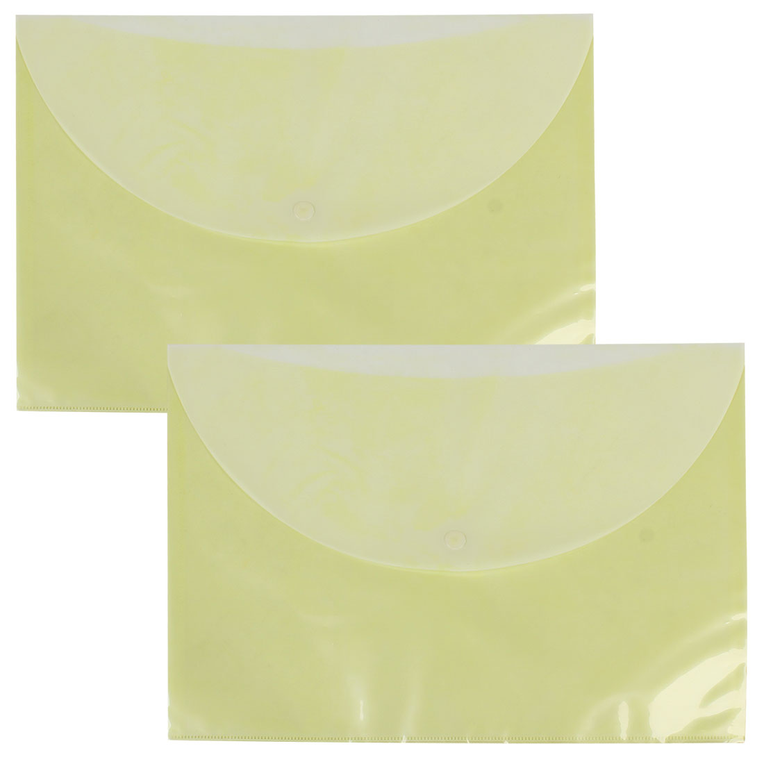 2 Pcs Yellow White Plastic A4 Size Paper File Document Holder