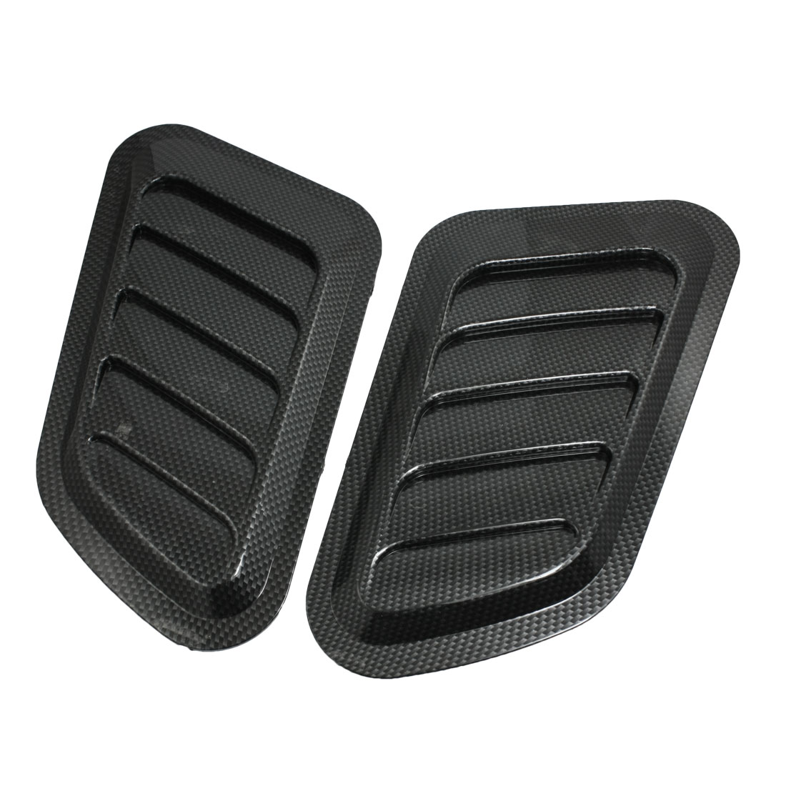Car Engine Hood Bumper Air Scoop Vent Side Fender Cover Decor Black 2 Pcs