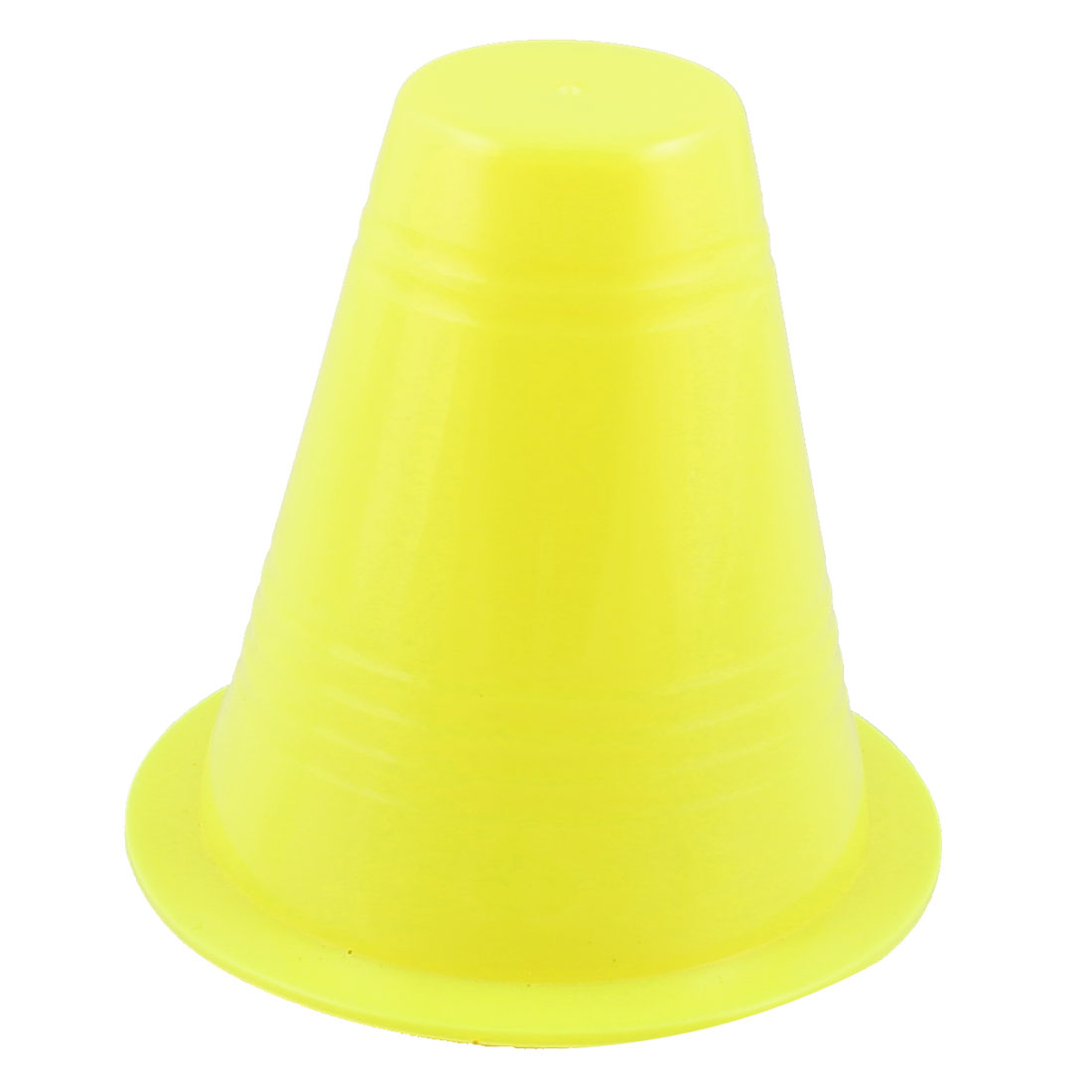 Roller Skating Yellow Soft Plastic Road Cone Sign Mini Roadblock for Kids