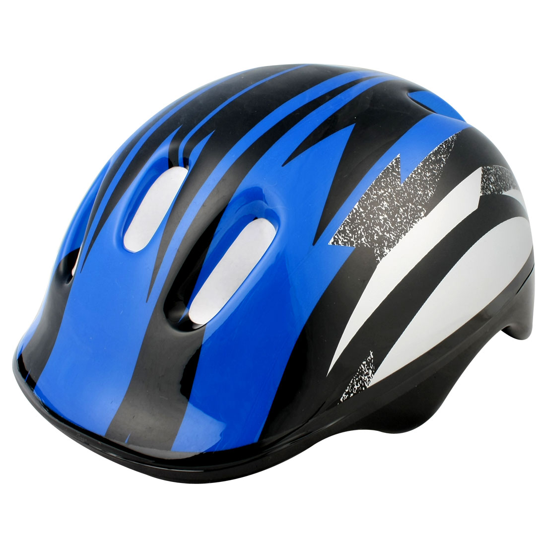 Blue Black Strip Adult Bicycle Bike Cycling Skating Striped Helmet for Unisex