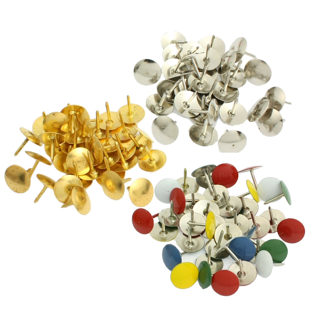 Metal Round Head Corkboard Photo Push Pins Thumb Tacks Multicolor 90 Pcs
