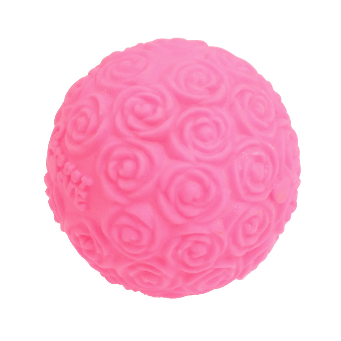 62mm Diameter Hot Pink Plastic Housing Multicolor Changed Rose Ball LED Light
