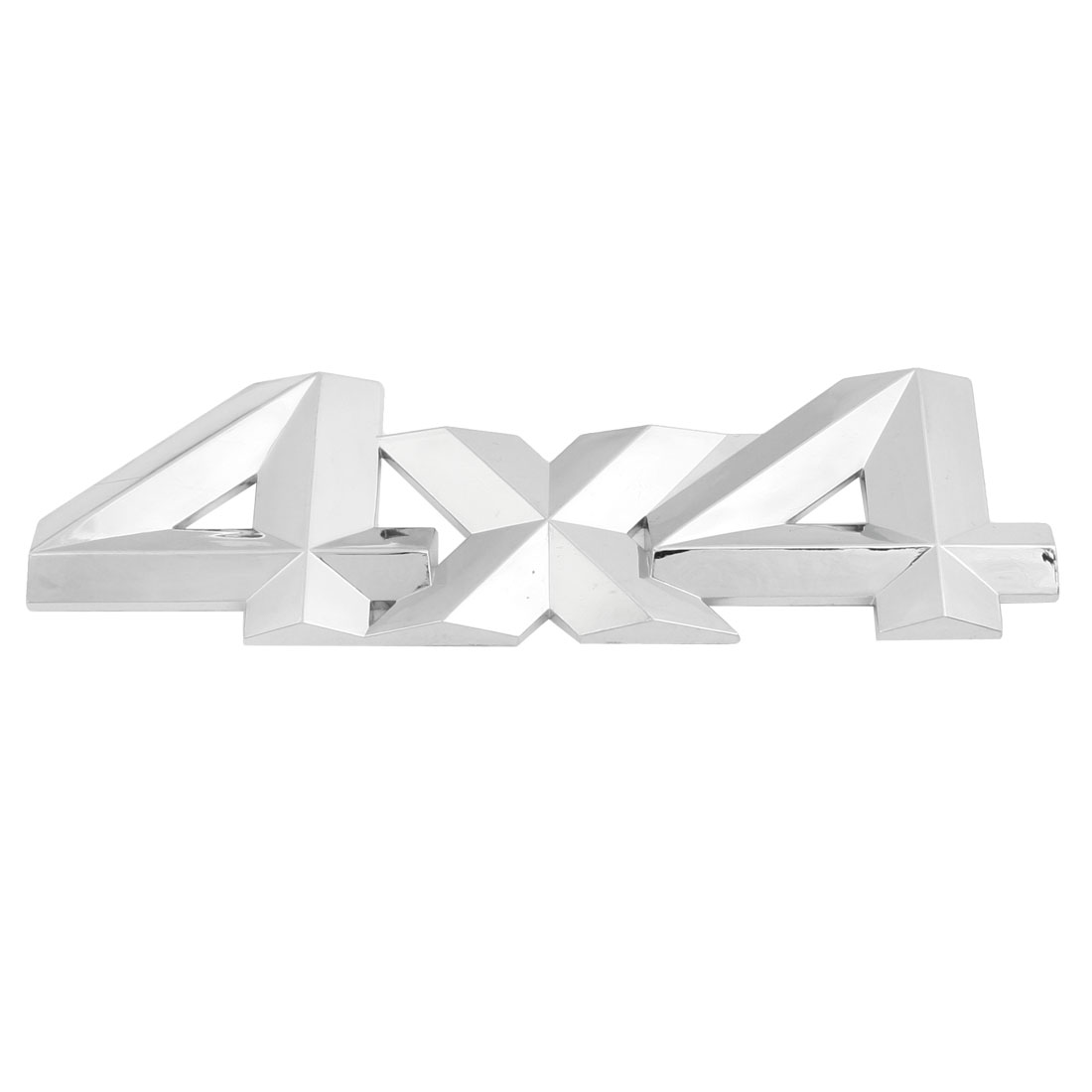 Silver Tone Plastic 4x4 Pattern Car Badge Sticker Emblem Decor
