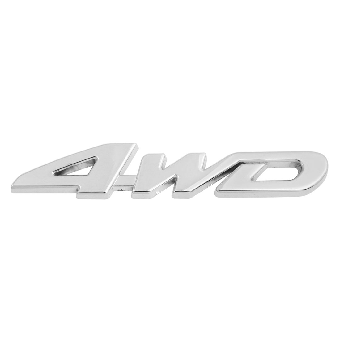 Silver Tone Metal 4WD Pattern Car Badge Sticker Emblem Decor
