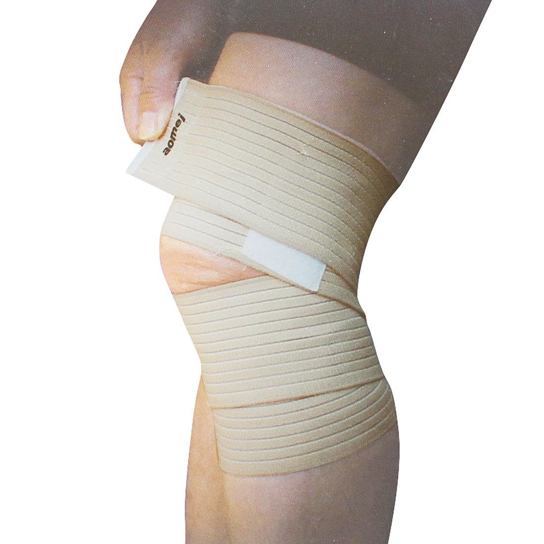 "Football 3"" Wide Elastic Knee Support Bandage Protector Beige"