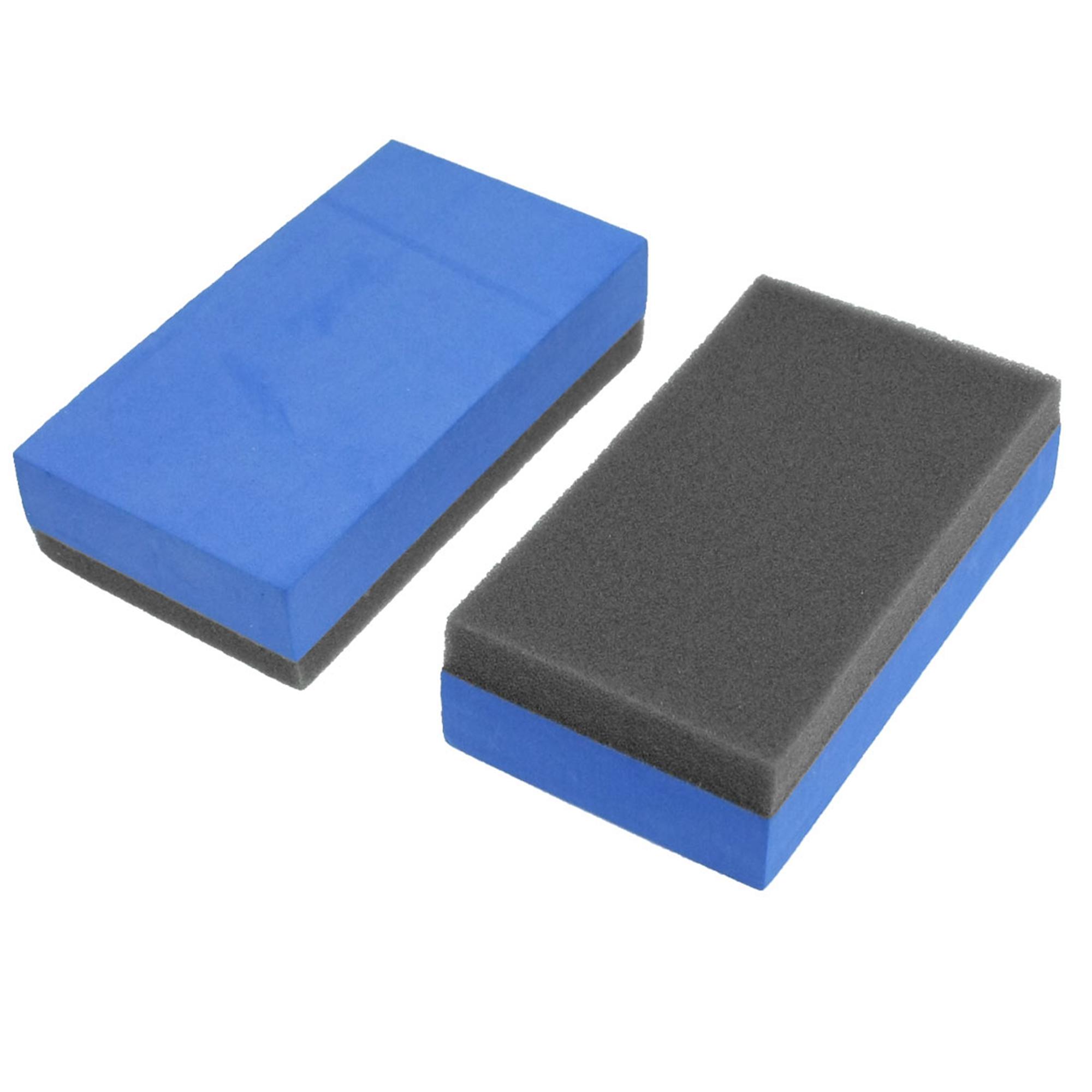 Home Car Truck Wash Foam Sponge Block Cleaner Tool Blue Gray 2 Pcs