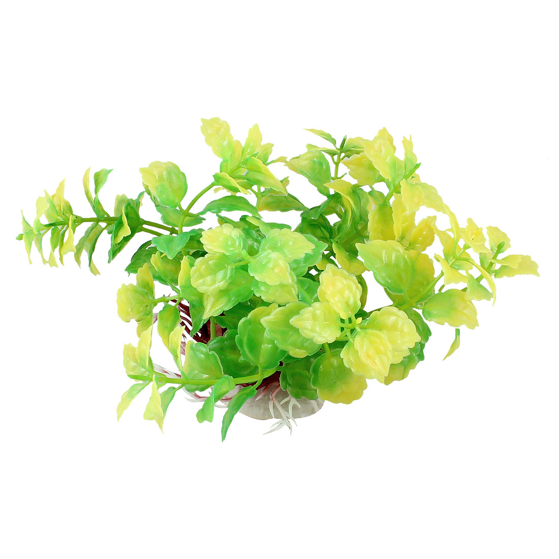 "3.1"" Height Yellow Green Aquarium Simulation Plastic Aquatic Plant Ornament"